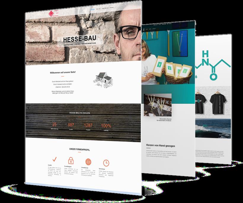 professionelle Website erstellen lassen Webdesigner