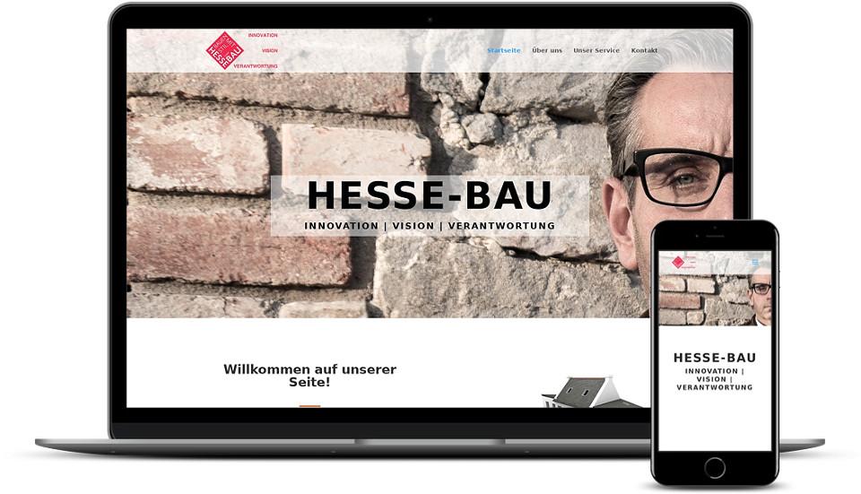 Kreative Website Erstellung - Referenz Bauunternehmen Hessebau Webdesign