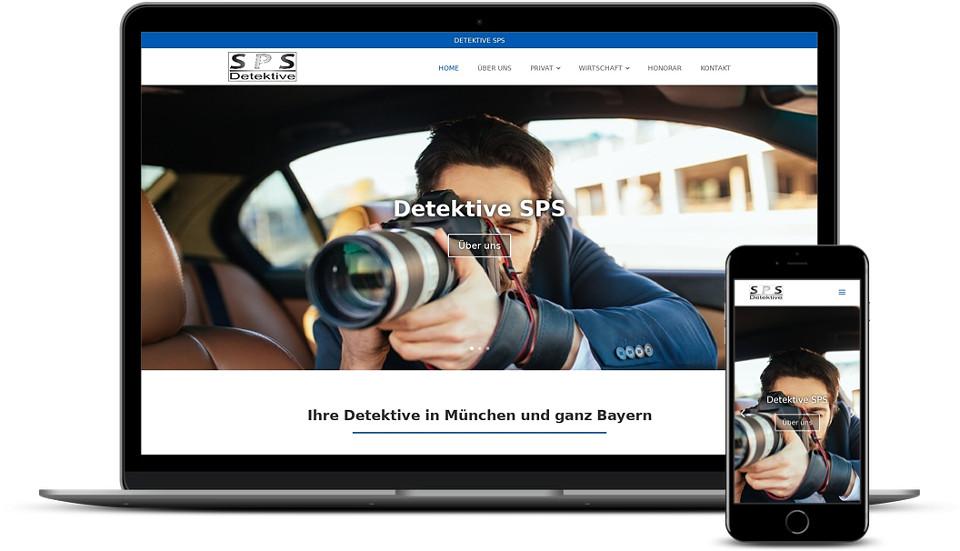 Kreative Website Erstellung - Referenz Detektive SPS Webdesign