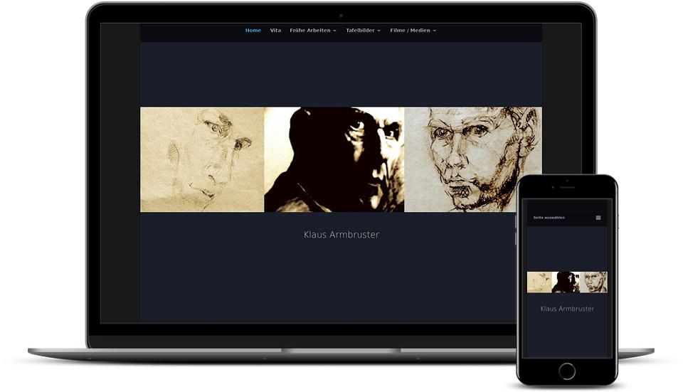 Kreative Website Erstellung - Referenz Maler & Künstler Klaus Armbruster Webdesign