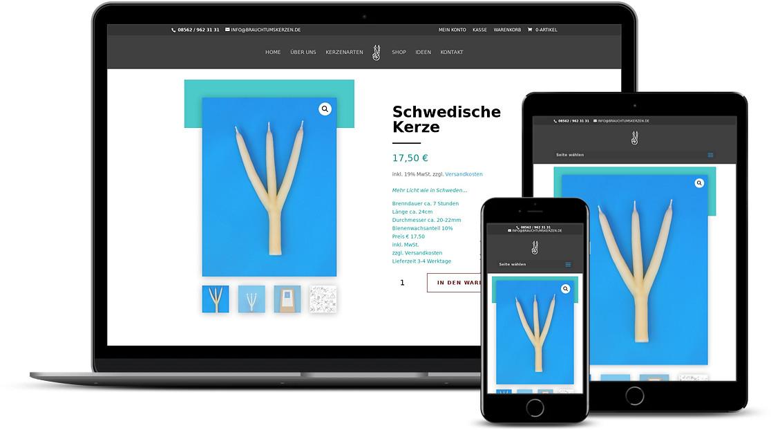 Responsive Webdesign kreative Website Erstellung