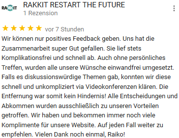 Feedback Kreative Website Erstellung