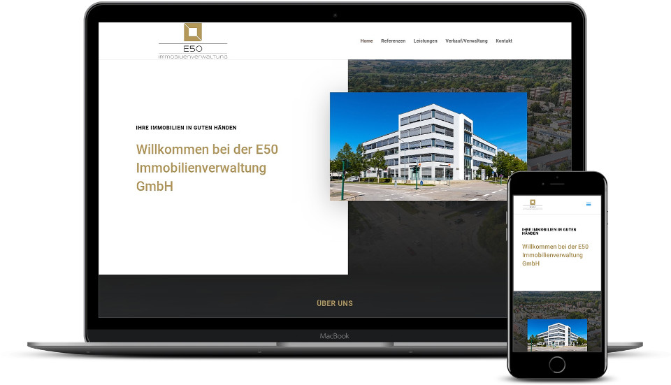 Kreative Website Erstellung - Referenz Immobilienverwaltung Immobilien Webdesign