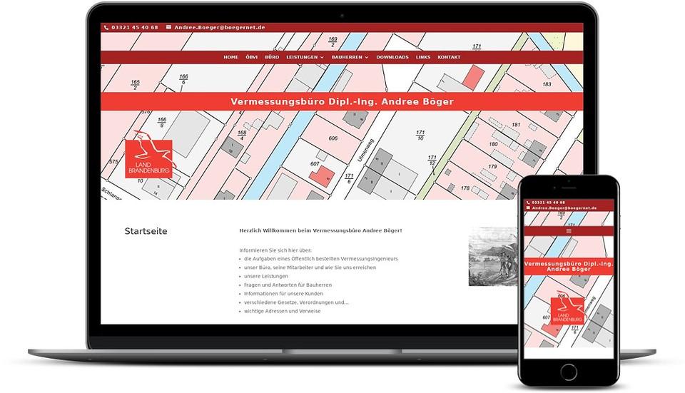 Kreative Website Erstellung - Referenz Vermessungsbüro Nauen Webdesign