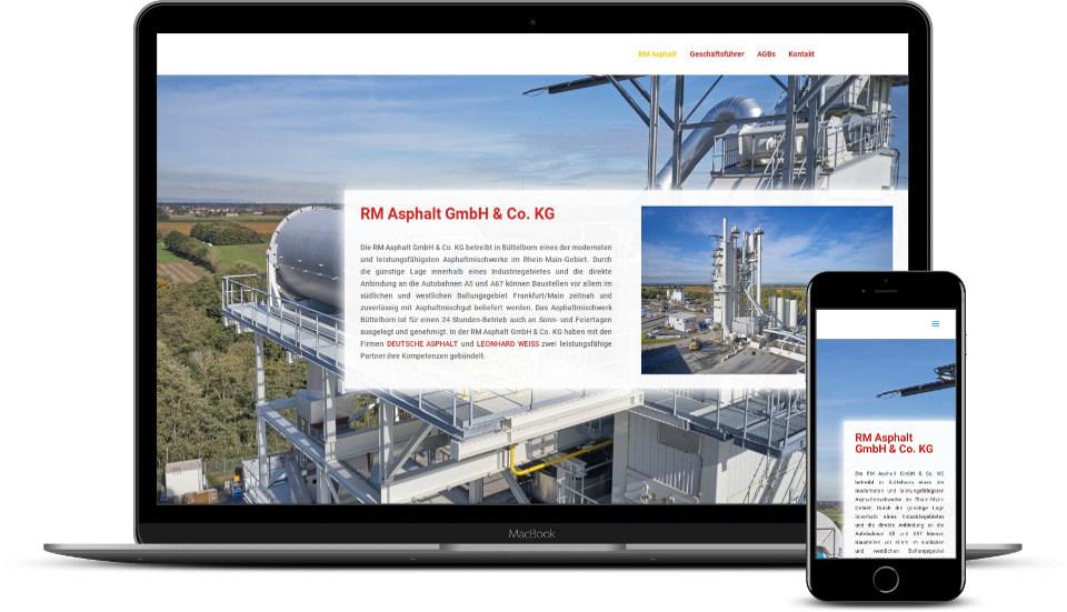 Webdesign RM Asphalt