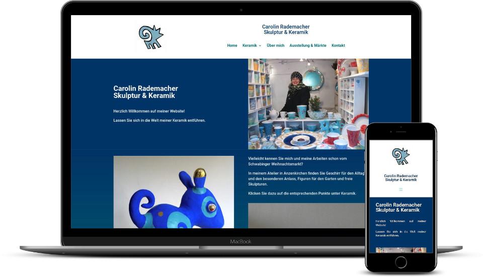 Kreative Website Erstellung Referenz Keramik Rademacher Webdesign