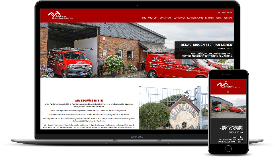 kreative website erstellung referenz dachdecker webdesign