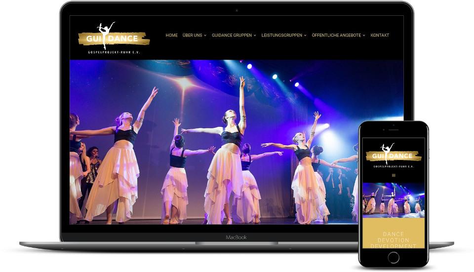 kreative website erstellung referenz tanzschule webdesign