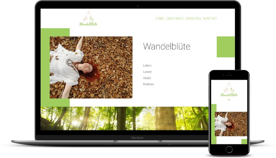 kreative Website Erstellung Wandelblüte Coaching Webdesign