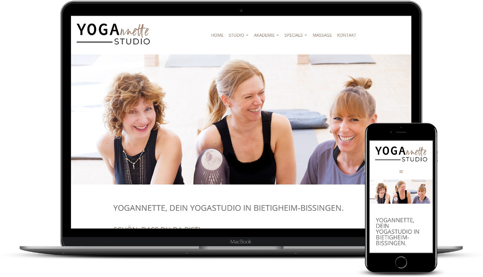 kreative website erstellung referenz yogastudio webdesign