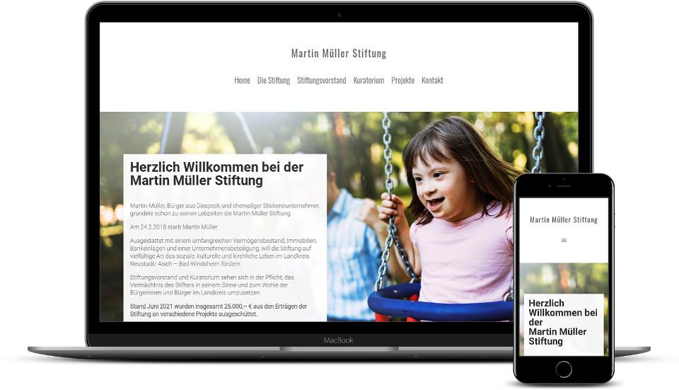 Kreative Website Erstellung Stiftung Webdesign