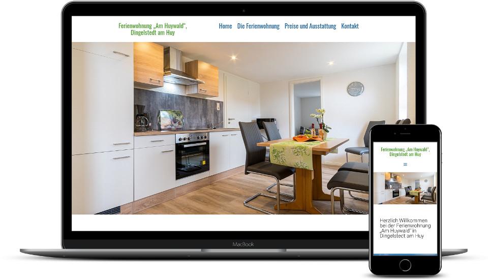 Kreative Website Erstellung Webdesign Ferienwohnung