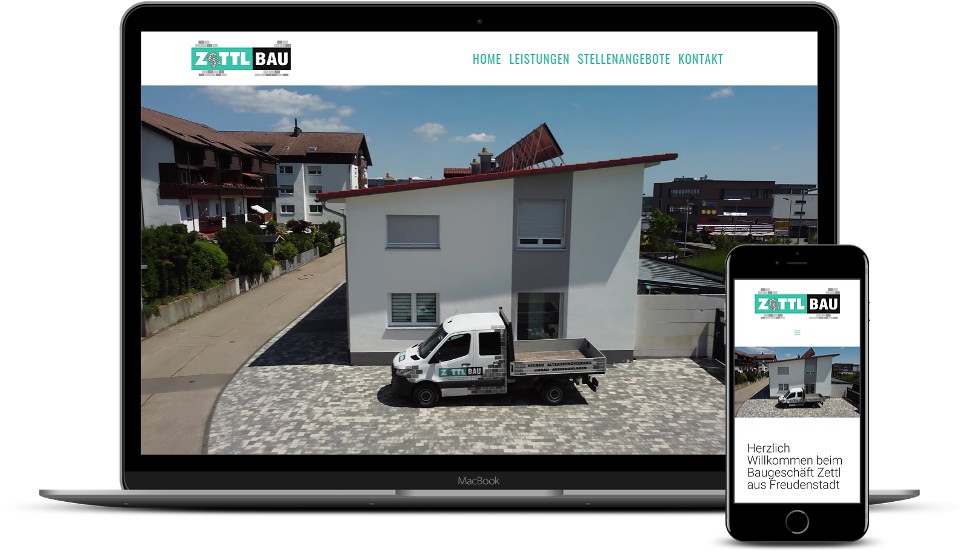 Kreative Website Erstellung Zettlbau Webdesign