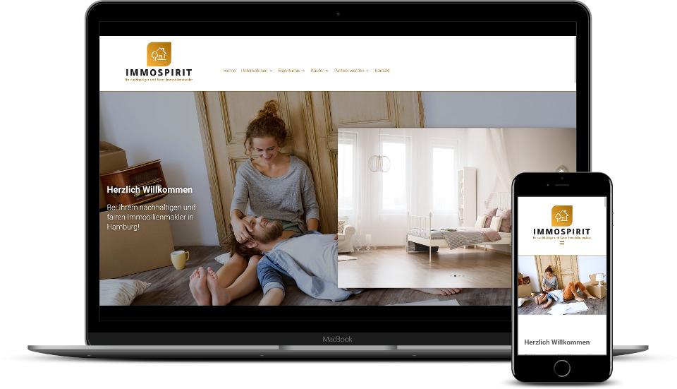 Website Erstellung Referenz Makler Immobilienmakler Webdesign