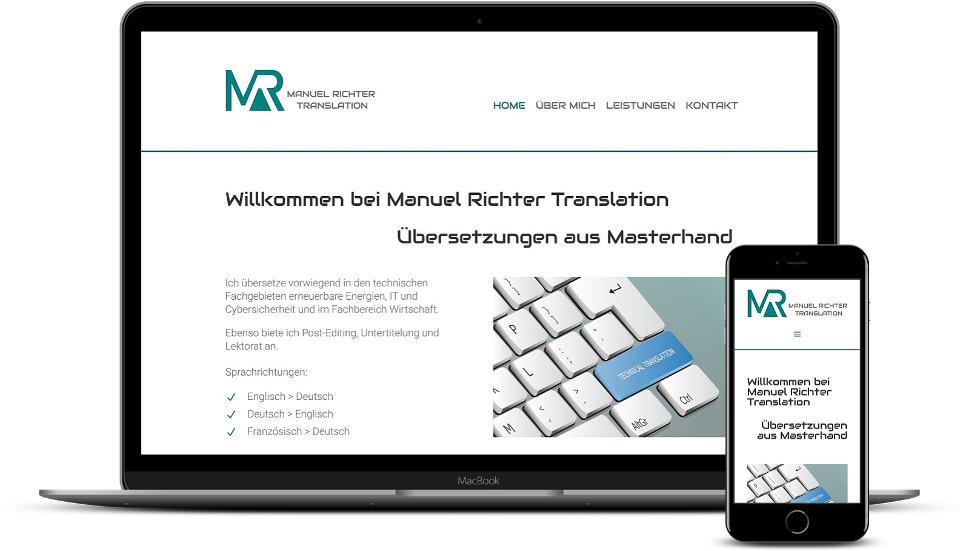 Website Erstellung Übersetzer Webdesign