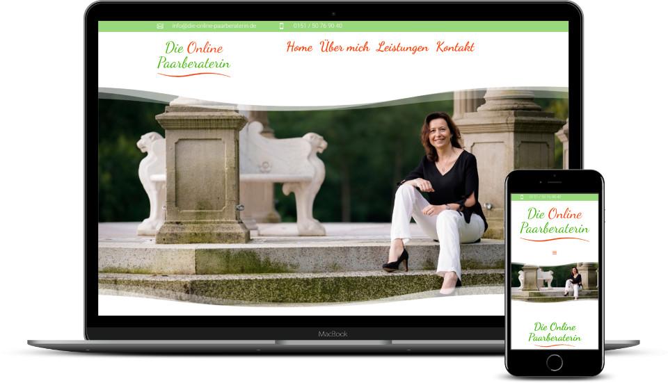 Kreative Website Erstellung Referenz Paarberung Webdesign