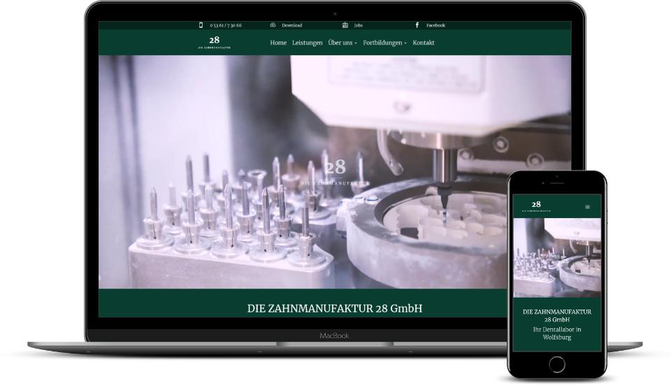 Kreative Website Erstellung Referenz Zahntechnik Dentallabor Webdesign